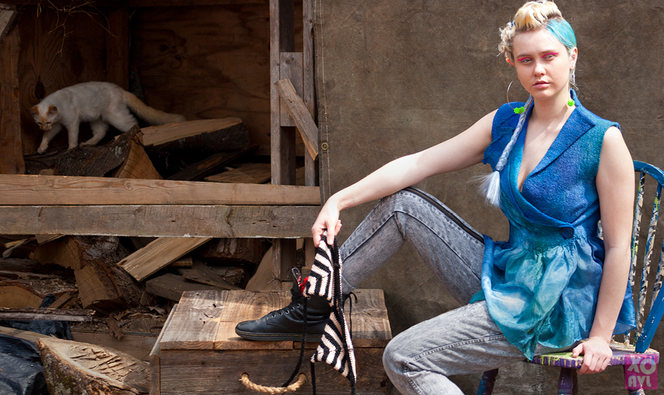 Upcycled Fashion Design - Trap Craft - Photographed by Christopher Sams