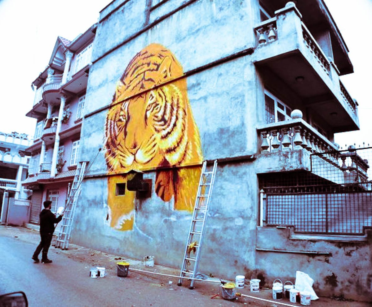 Spagnola in process the first of nine walls by Abhisekh Maskey