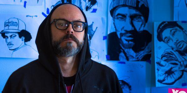 Gabriel Schaffer Among the Hip Hop Legends. Photographed by Anthony Abraira